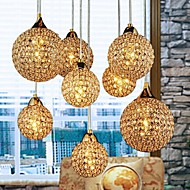 Max 40W Pendant Light ,  Modern/Contemporary / Globe Electroplated Feature for Crystal Metal Bedroom / Dining Room / Hallway