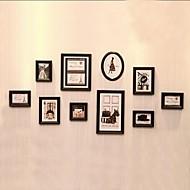 Black Photo Frame Set med 10 Classical Europern Style