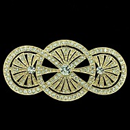 8,1 cm gouden ronde bloem broche aansnijden pin met heldere strass vrouwen party accessoires