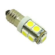 E10 2W 9X5050 SMD 6000K White Lights LED Light Bulb for Diy (DC 12V , 2-Pack)