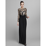 Prom / Formal Evening / Military Ball Dress - Plus Size / Petite Sheath/Column Jewel Floor-length Jersey