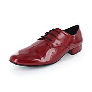 Non Přizpůsobitelné - Pánské - Taneční boty - Moderní - Koženka - Masivní podpatek - Červená