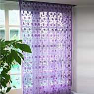 "39""W * 78""L  Country Elegant Circles Pattern Curtain Drape Line - 2 Colors Available"