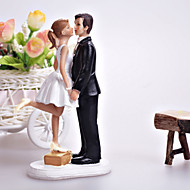 "Cake Toppers ""A Kiss And We're Off""  Cake Topper"