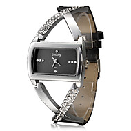 Damen Modeuhr Quartz Imitation Diamant Strass PU Band Glanz Elegante Schwarz