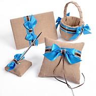 Blue Bow Linen Wedding Collection (4 Pieces)