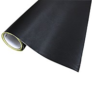 Merdia Dekoration 3D PVC Carbon Fiber Film Wrap Sticker til bil-Black (127 x 50cm)