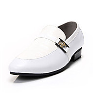 Men's Shoes Office & Career/Dress/Party & Evening Faux Leather Loafers Black/White