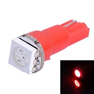 0.25W T5 14LM 1x5050SMD LED Red Light for bil Angi Dashboard Bredde Lamper (DC 12V 1stk)