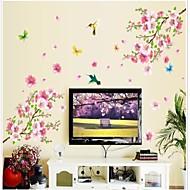 Doudouwo ® Blumen der schönen Peach Blossom-und Schmetterlings-Wandaufkleber