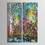 iarts®hand gemalte Ölgemälde Landschaft undershrub Bild mit gestreckten Rahmen Satz von 2