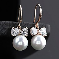 Hoop Earrings Women's Cubic Zirconia/Alloy Earring Pearl/Rhinestone