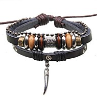 Men's Pendant Jewelry Beads Leather Braided Bracelets Christmas Gifts