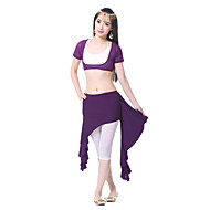 Belly Dance Skirts Women's Training Chiffon Satin Draped 1 PieceApple Green / Black / Dark Purple / Fuchsia / Light Blue / Orange / Pink