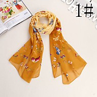 Bully Color Butterfly Shawl Sunscreen Chiffon Scarf