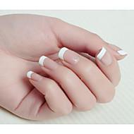10x50pcs tamanho mixs arte sorriso branco unhas dicas francês
