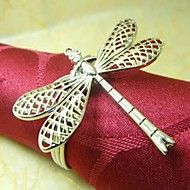 Dragonfly ubrousek Ring, Metal, 4cm, sada 12,