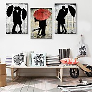 Trykk på strukket Art The Lover In The Rain Set of 3