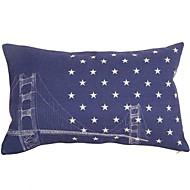 Cotton/Linen Pillow Cover / Pillow With Insert , Cities Modern/Contemporary