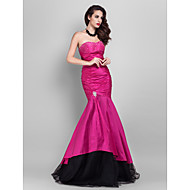 TS Couture® Prom / Formal Evening / Military Ball Dress - Open Back Plus Size / Petite Trumpet / Mermaid Strapless / Sweetheart Floor-length Taffeta