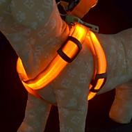 Chien Harnais Lampe LED / Sécurité Rouge / Vert / Bleu / Incanardin / Jaune / Orange Nylon