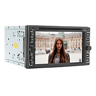 6.2 inch 2 din universele auto dvd-speler met radio, dvd, sd, usb, bluetooth, ipod