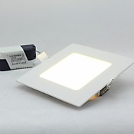 6W 480lm Square Panel Downlight, Mount Hole 105*105mm, 100~240V Input