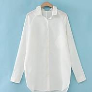 losse lange mouw linnen shirt van vrouwen