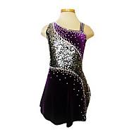 Tuniques de patinage, Purple Velvet patinage artistique robe de la fille (Assorted Taille)