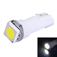 0.25W T5 14LM 1x5050SMD LED White Light for Car Indicate Dashboard Width Lamps (DC 12V  1Pcs)