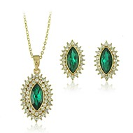 Alloy With Crystal Earrings And Pendants Necklace Jewelry Sets(Including Necklace,Earrings)(More Colors)