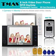 "TMAX® 8"" LCD Video Door Phone Support Photograph SD Card Recording 600TVL IR Camera"