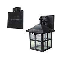 2-LED Super Bright Branco Solar PIR sensor de movimento Wall Light Garden Lamp