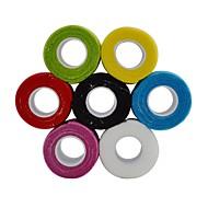 sport utendørs 2.5cm x 4,5 m vevde selvklebende elastisk sammenhengende bandasje for finger tape (assortert farge)