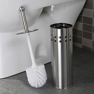 Orange® Bath Accessory Set Stainless Steel Toilet Brush Holder 1Pcs D11.5*H42CM