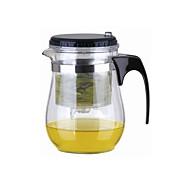 Snadná Push Button Sítko Skleněná konvice na čaj s Lock (500 ml)