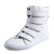 Herresko Friluft / Fritid Kunstlær Trendy sneakers Svart / Hvit / Sølv