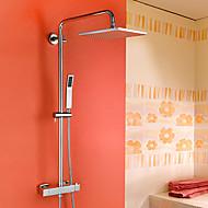 HPB ™ contemporanea ottone cromato rubinetto doccia termostatica con tecnologia Injection Air Shower Head