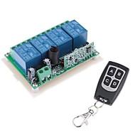 12V 4-kanálový bezdrátový Remote Power Modul relé s dálkovým ovládáním (DC28V-AC250V)