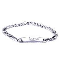 osobní dar z nerezové oceli šperky ryté id náramky šířka 0,7 cm