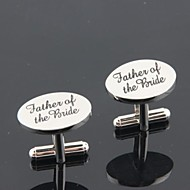 "Groom/Groomsman ""Father Of The Bride"" Brass Cufflinks"