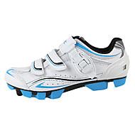 santic 남자의 운동 경량 MTB 산맥의 자전거 자전거 잠금 신발 - 블루 + 화이트