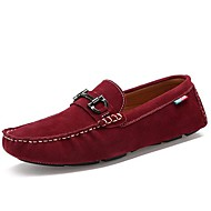 Men's Shoes Casual Rubber/Suede Loafers Black/Blue/Red/Gray