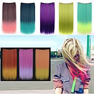 Lungo 24 pollici clip in sintetico dritto nelle estensioni dei capelli con 5 clips - 8 colori disponibili