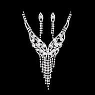 Ensemble de bijoux Femme Mariage / Sorée / Quotidien Parures Alliage Boucles d'oreille / Colliers décoratifs Argent