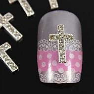 10шт поделки серебро советы стразы пересечения пальцев аксессуары ногтей украшения