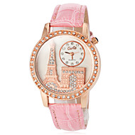 Women's Diamante Round Dial PU Band Quartz Analog Casual Watch (Assorted Colors) Cool Watches Unique Watches