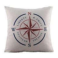 nautisk kompass bomull / linne dekorativa örngott