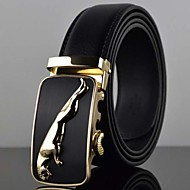 Men's Automatic Buckle Business Leather Belt