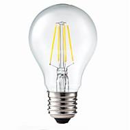 5W E26/E27 LED Filament Bulbs G60 4 COB 400 lm Warm White Dimmable / Decorative AC 220-240 V